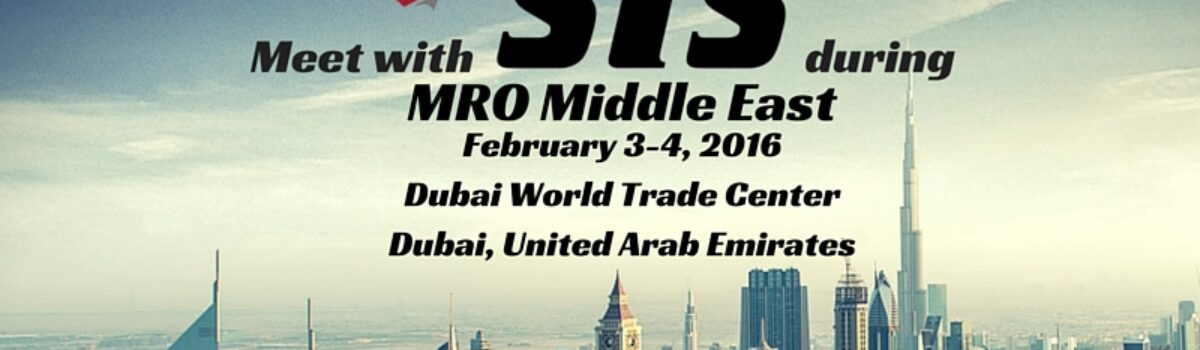 Join STS Component Solutions at MRO Middle East in Dubai