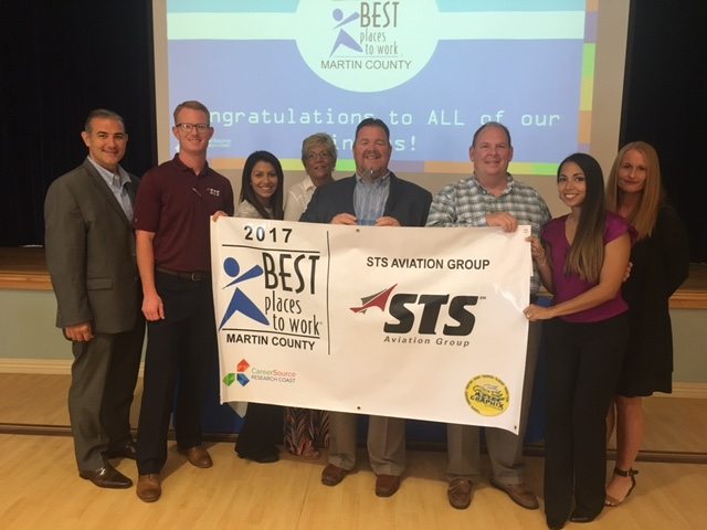 STS Aviation Group Wins Best Places to Work in Martin County Award