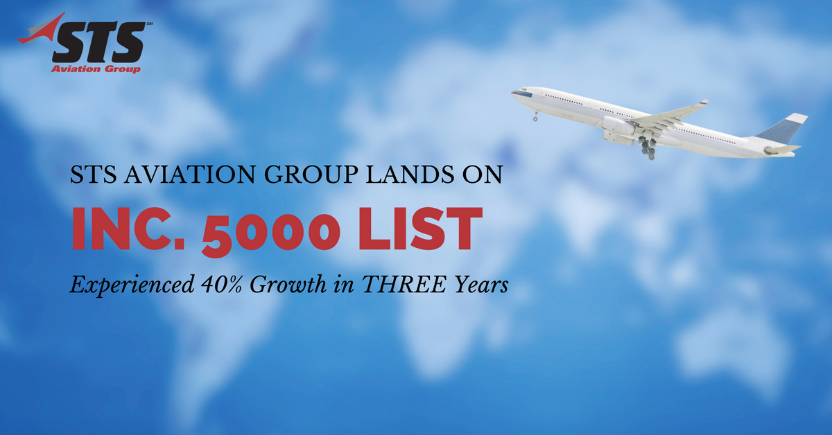 For the Fifth Time, STS Aviation Group Lands on Inc. 5000 List
